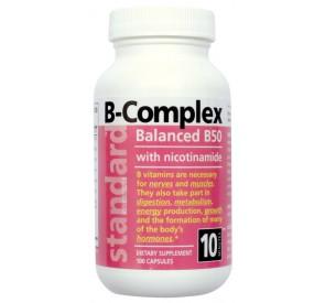 Vitamín B komplex 50 mg, 100 kapsúl