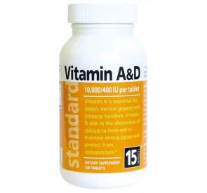 Vitamín A&D 10000/400 IU, 100 tabliet