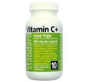 Vitamín C so šípkou 500 mg, 100 kapsúl