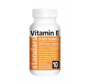 Vitamín E 200 IU prírodný, 100 kapsúl