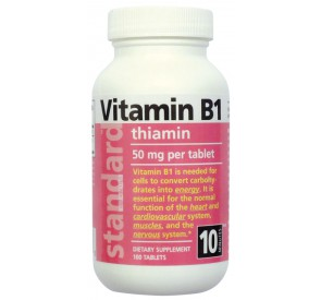 Vitamín B1 50 mg, 100 tabliet